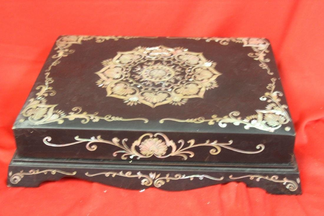 A Mother of Pearl Inlaid Box