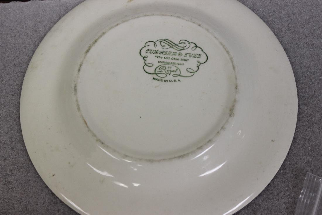 A Currier and Ives Old Griest Mill Plate - 10