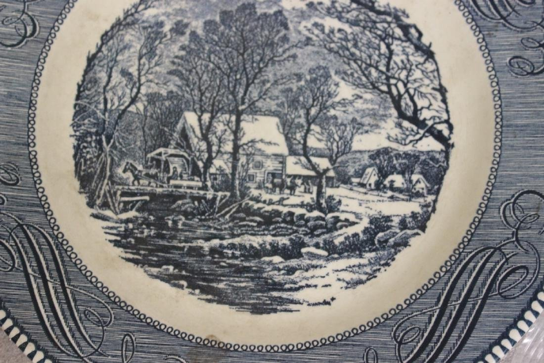 A Currier and Ives Old Griest Mill Plate - 3