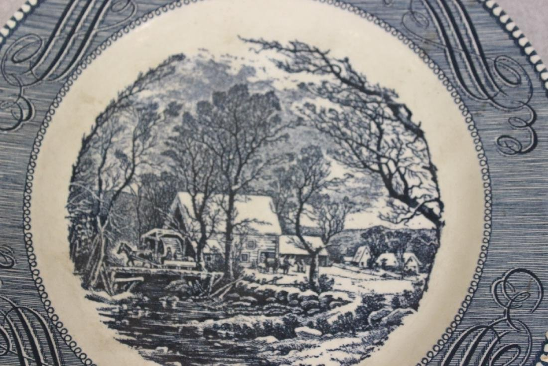 A Currier and Ives Old Griest Mill Plate - 4