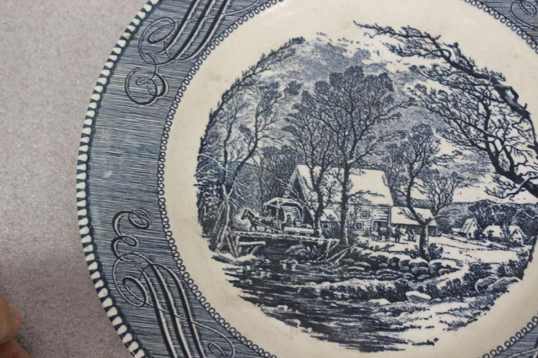 A Currier and Ives Old Griest Mill Plate - 5