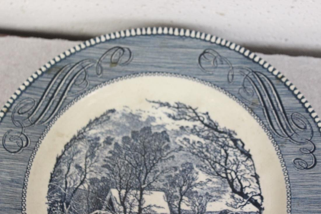 A Currier and Ives Old Griest Mill Plate - 6