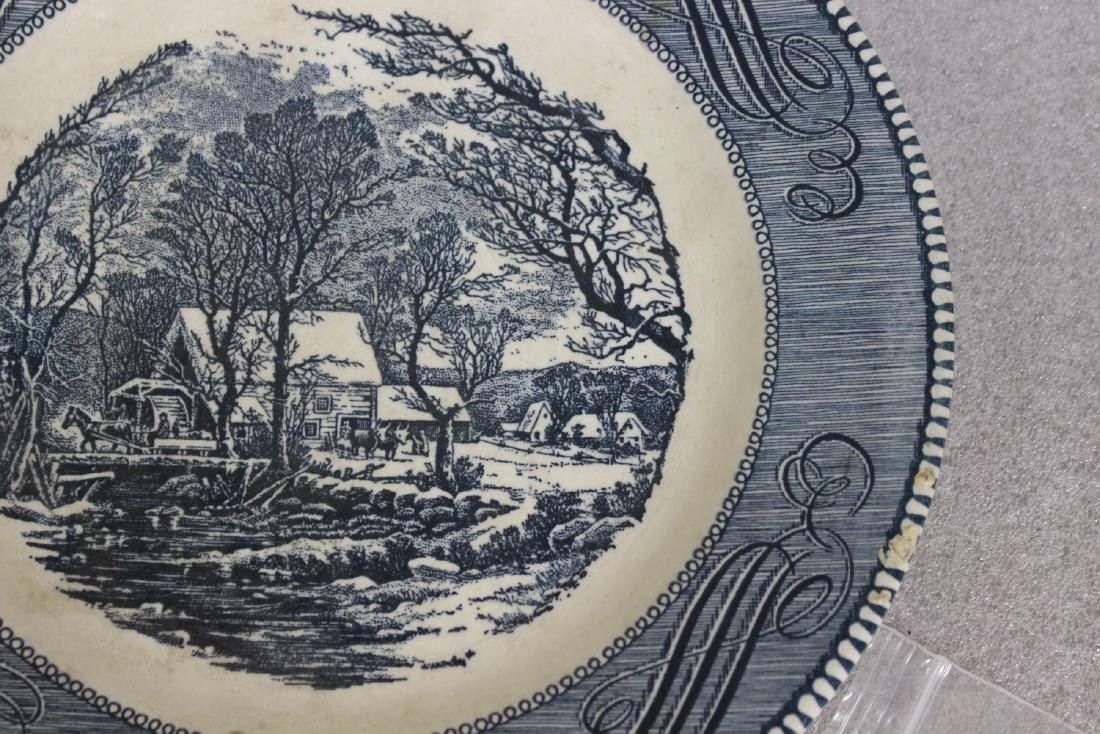 A Currier and Ives Old Griest Mill Plate - 7