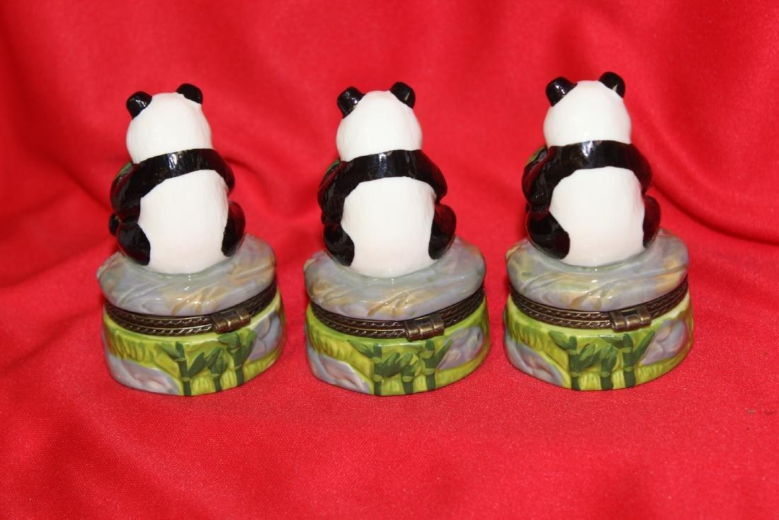 Lot of 3 Panda Ceramic Trinket Boxes - 2