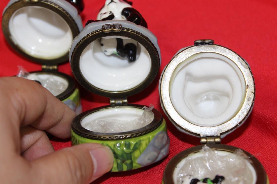 Lot of 3 Panda Ceramic Trinket Boxes - 4