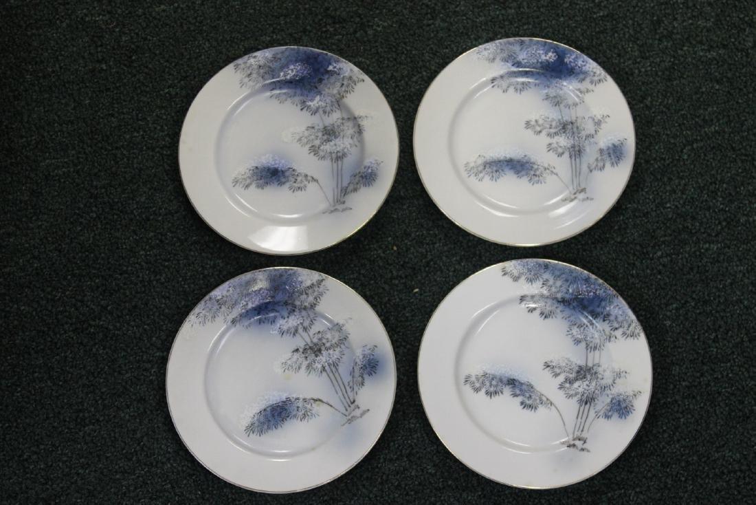 Lot of 4 Japanese Kutani Bread Plates
