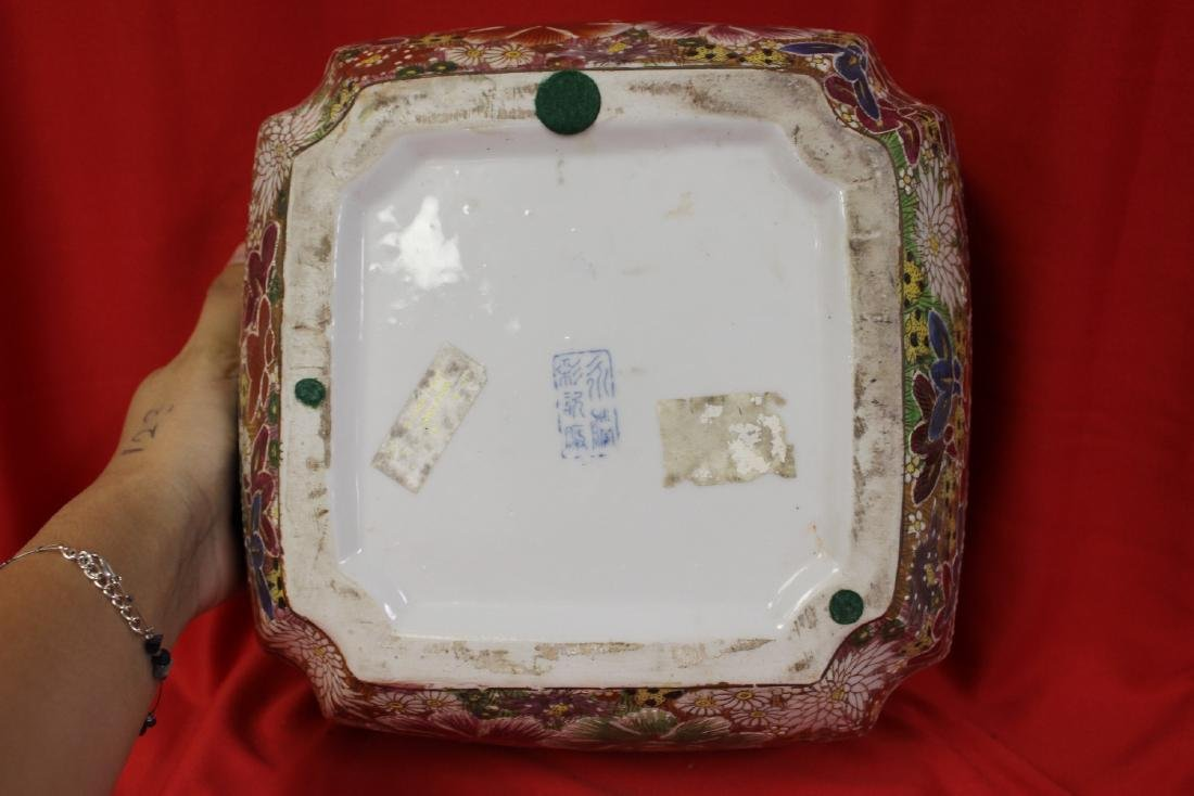 A Chinese Signed Square Bowl - 3