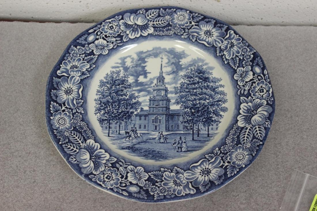 A Liberty Blue Ironstone Plate