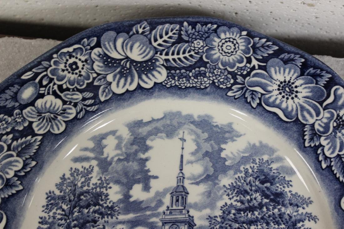 A Liberty Blue Ironstone Plate - 2