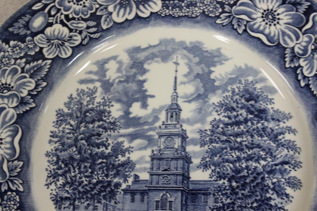A Liberty Blue Ironstone Plate - 3