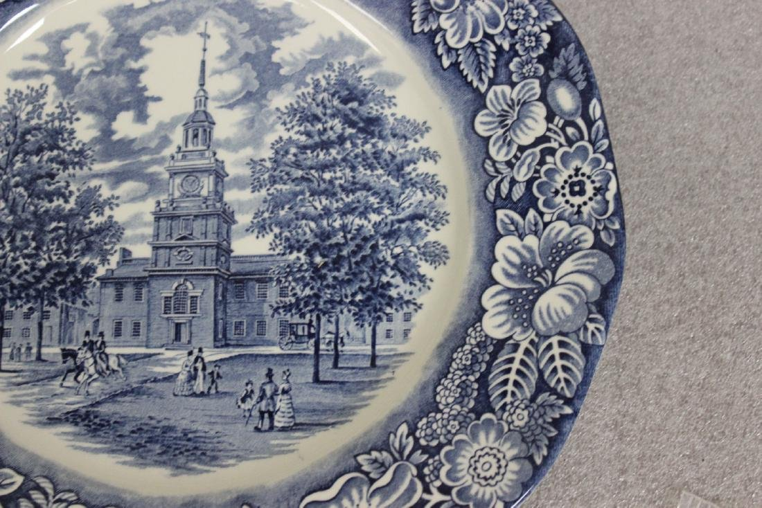 A Liberty Blue Ironstone Plate - 5