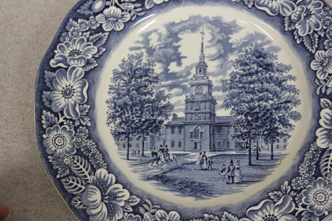A Liberty Blue Ironstone Plate - 7