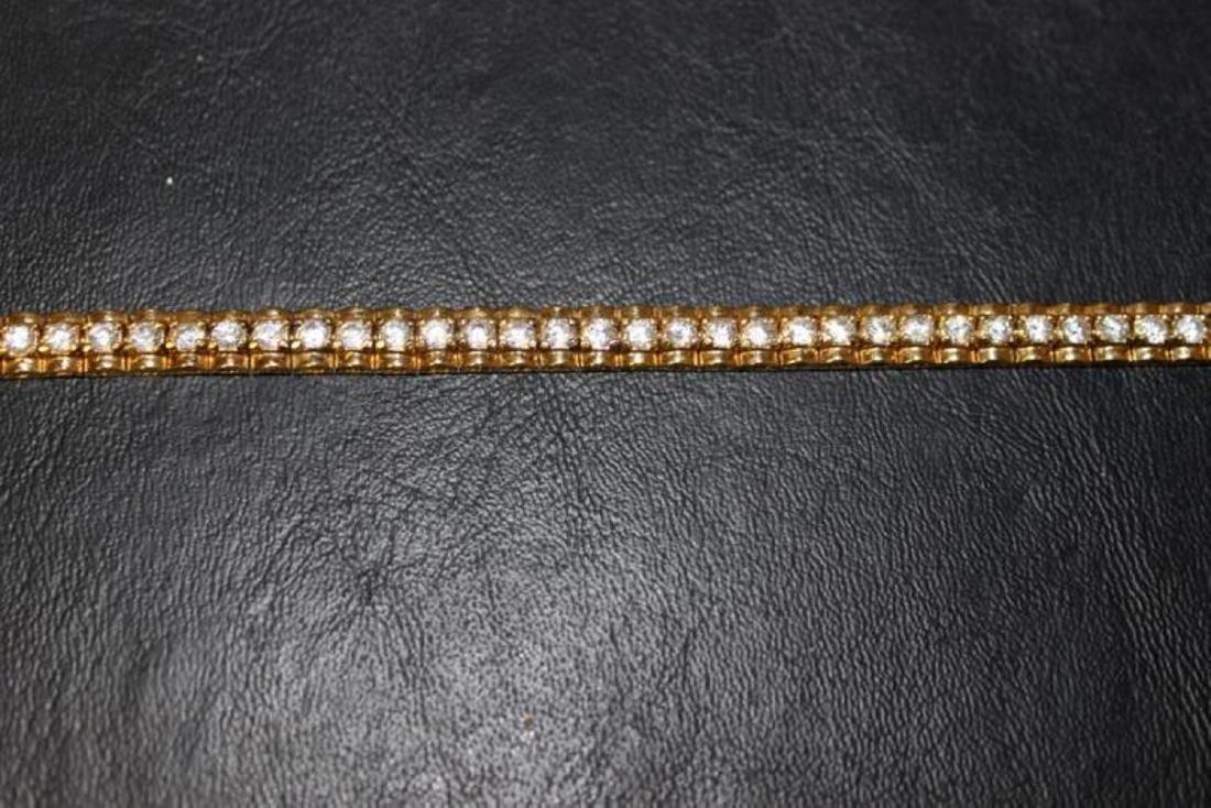 A Gold Over Sterling Silver Bracelet - 3