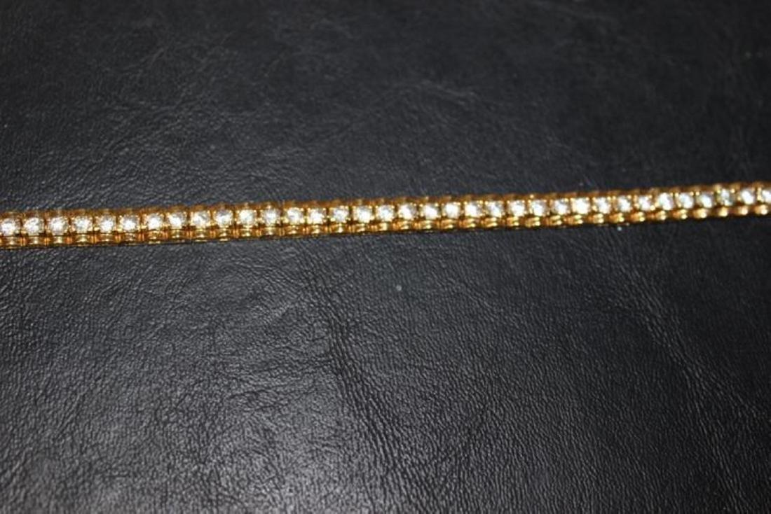 A Gold Over Sterling Silver Bracelet - 4