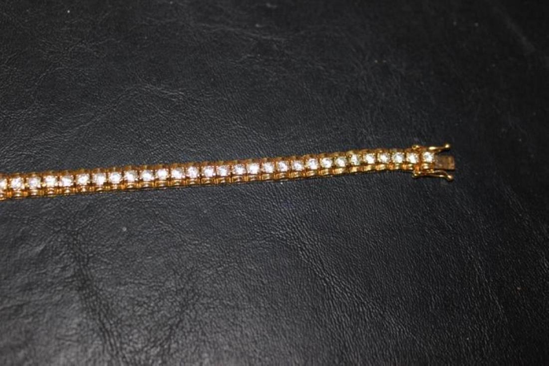 A Gold Over Sterling Silver Bracelet - 6