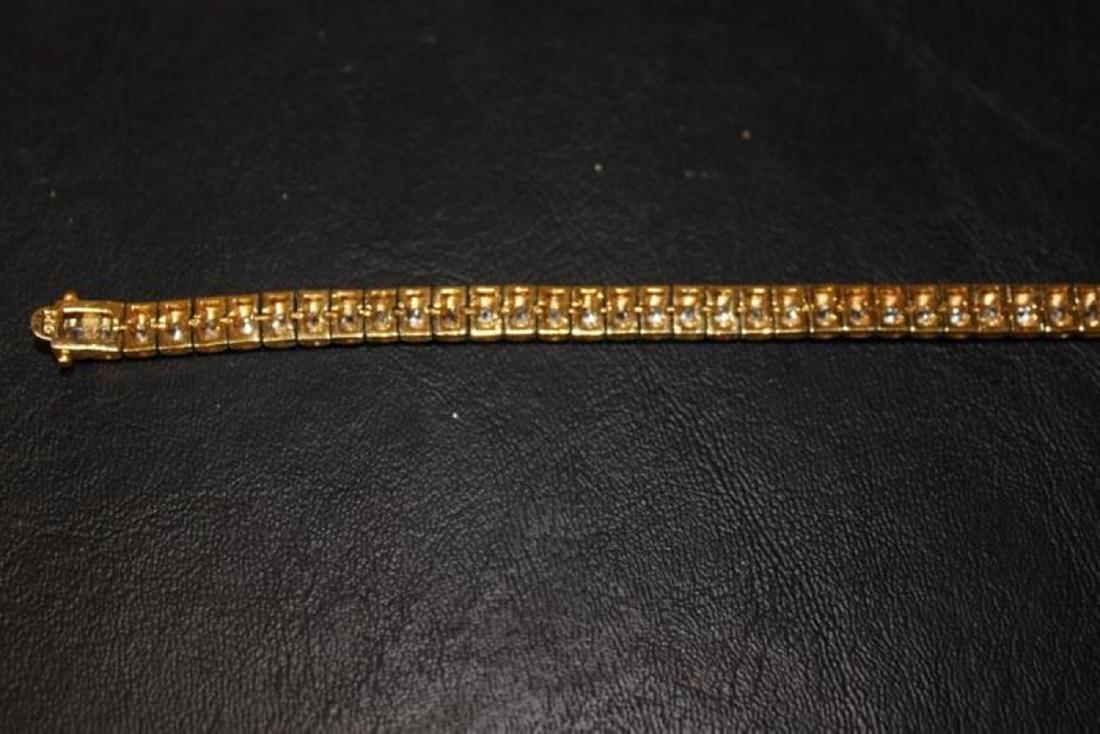 A Gold Over Sterling Silver Bracelet - 8