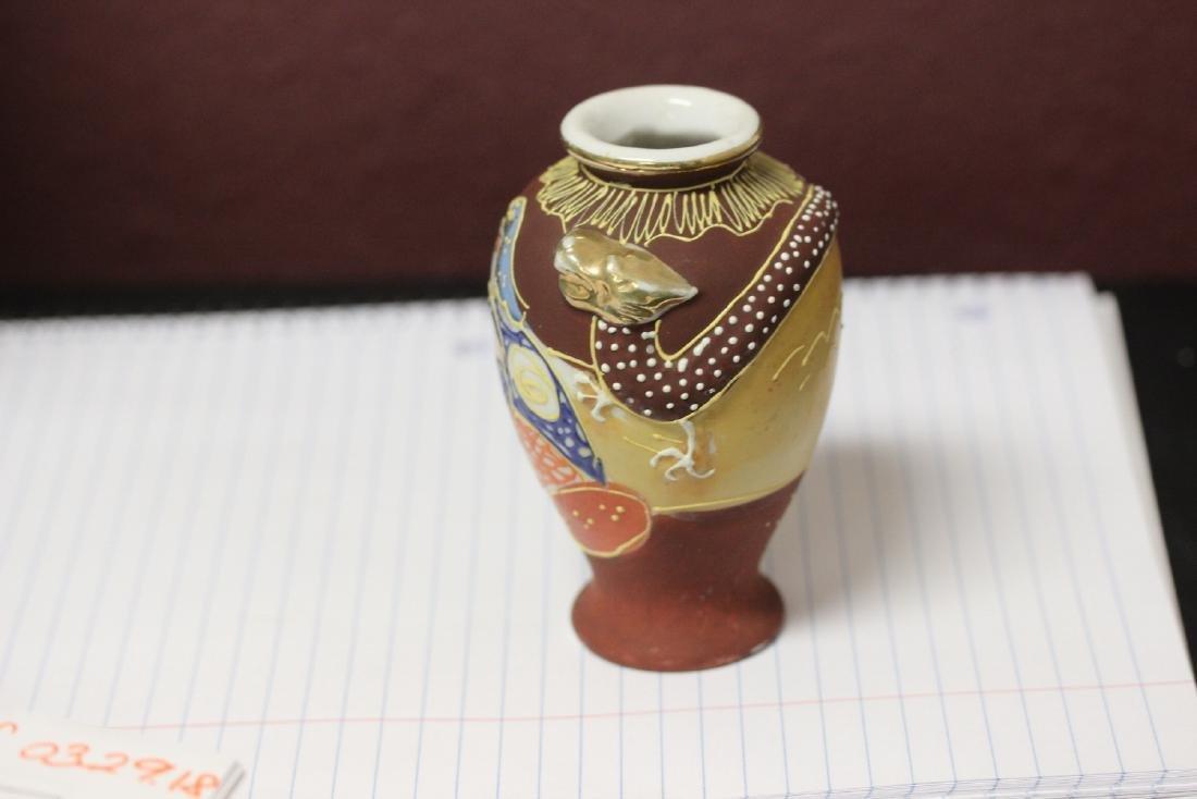 A Vintage Japanese Nippon Dragon Vase - 2