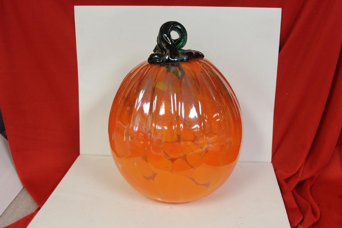An Art Glass Pumpkin