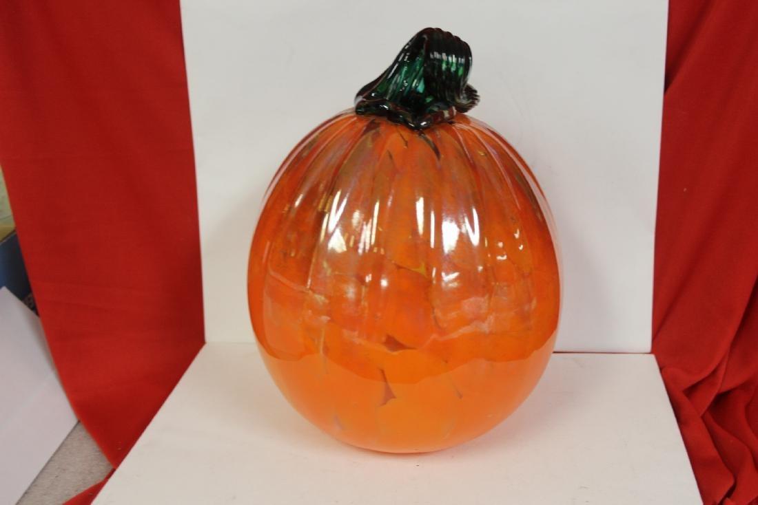 An Art Glass Pumpkin - 2