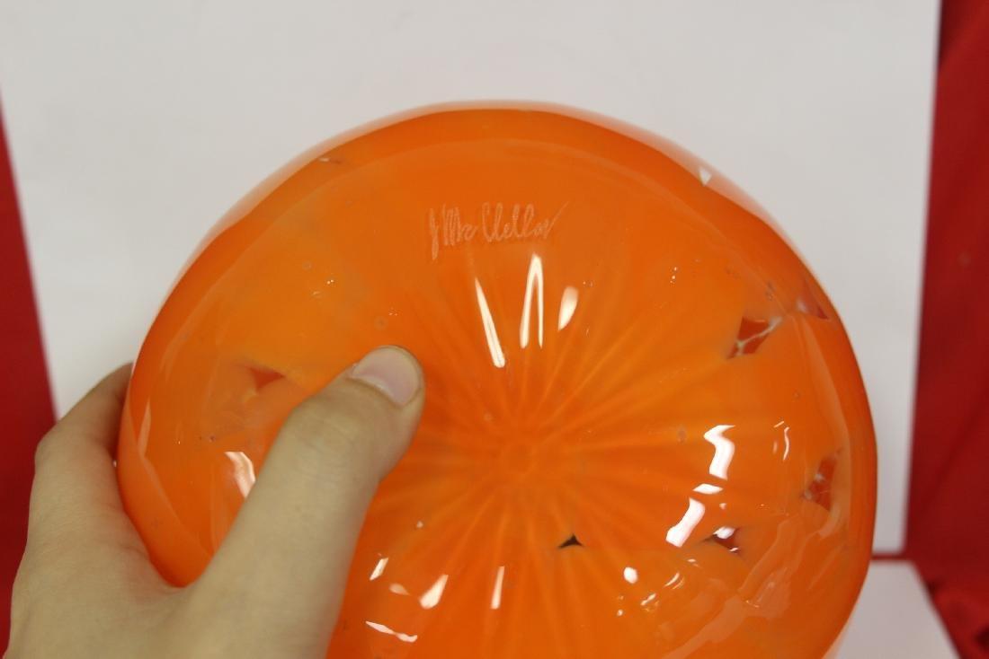 An Art Glass Pumpkin - 3