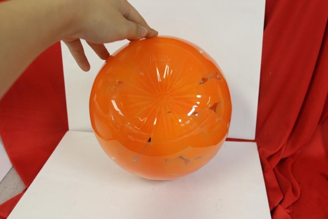 An Art Glass Pumpkin - 4