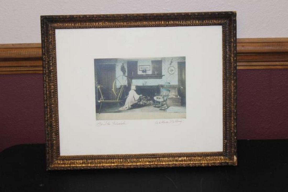 An Antique Wallace Nutting Signed Lithograph - 10