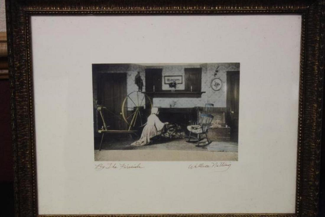 An Antique Wallace Nutting Signed Lithograph