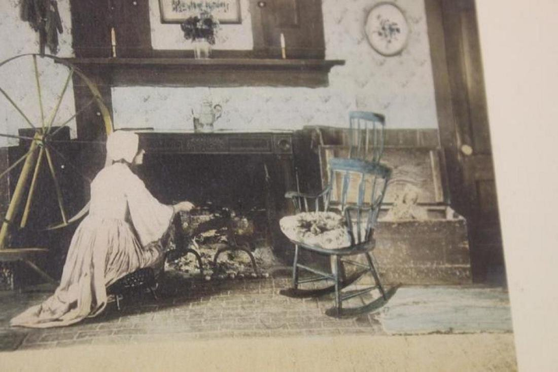 An Antique Wallace Nutting Signed Lithograph - 4