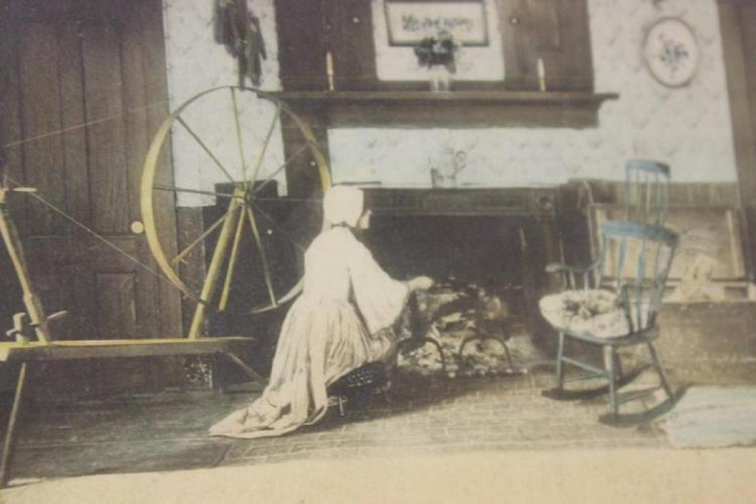 An Antique Wallace Nutting Signed Lithograph - 8