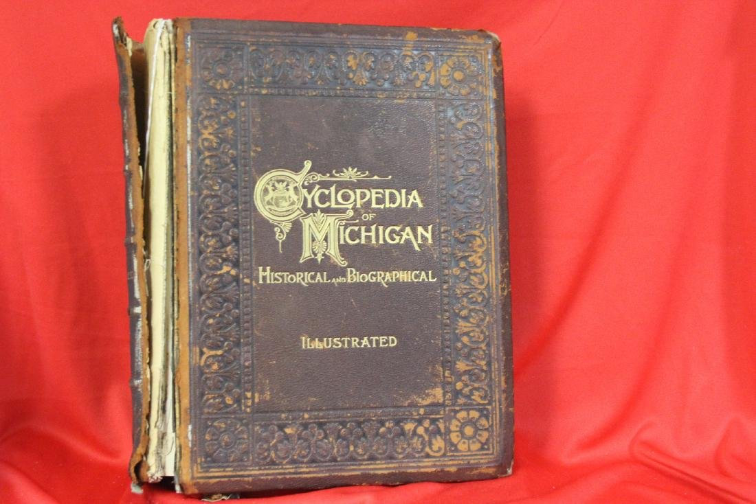 A Leather Bound Book: Cyclopedia of Michigan
