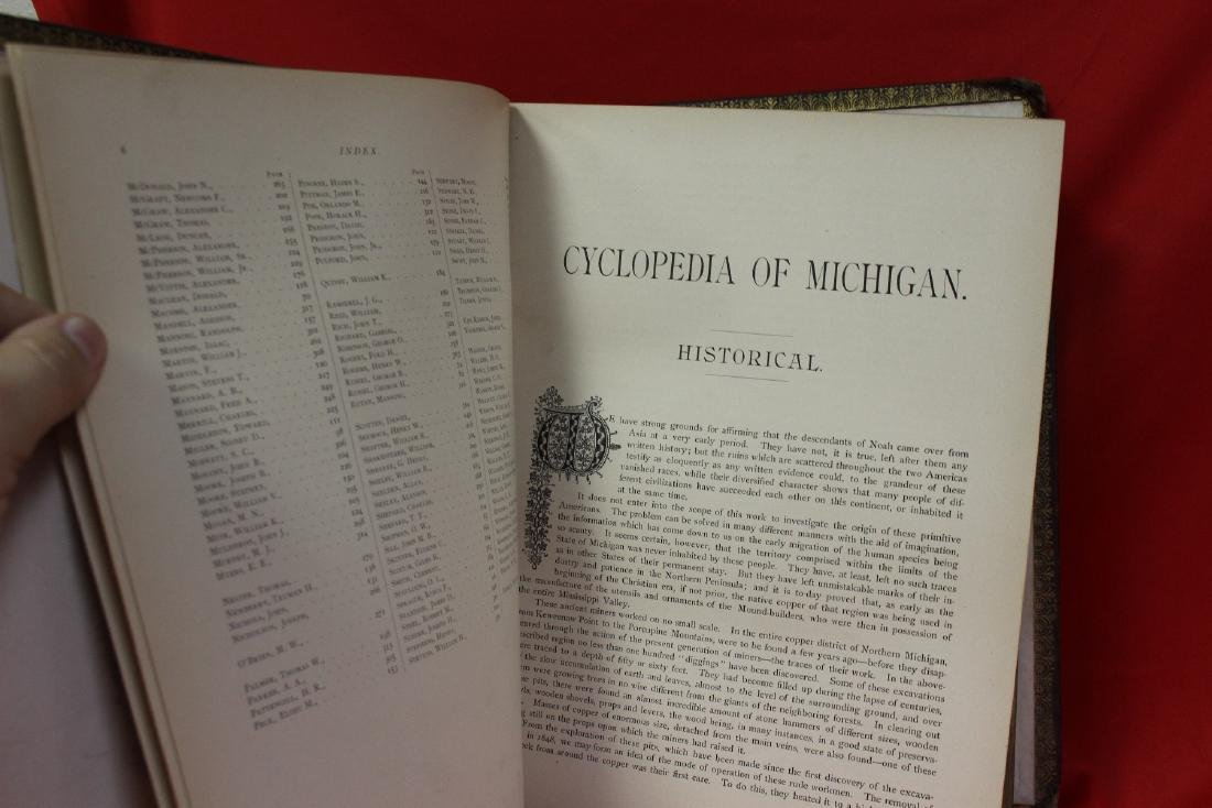 A Leather Bound Book: Cyclopedia of Michigan - 4