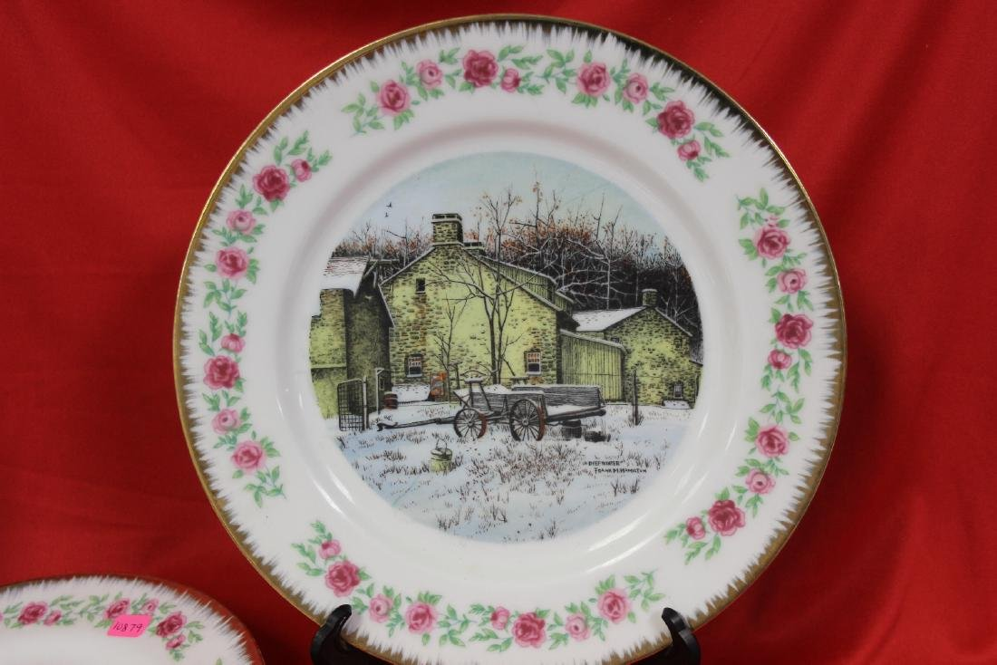 Lot of 4 Vintage Decorative Plates - 5