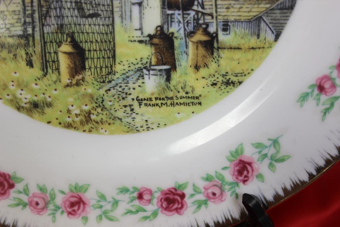 Lot of 4 Vintage Decorative Plates - 8