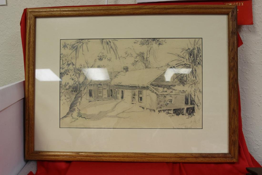An Original Pencil Drawing by Romaine Gibson