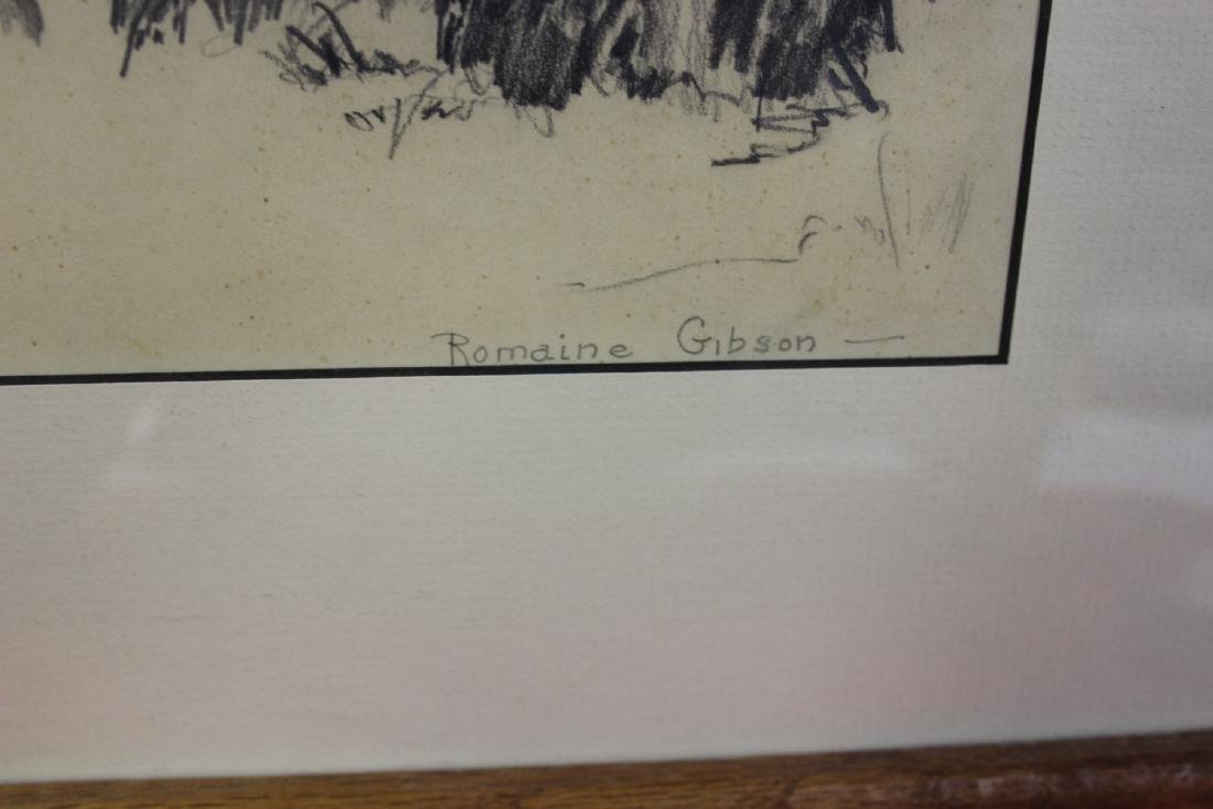 An Original Pencil Drawing by Romaine Gibson - 2