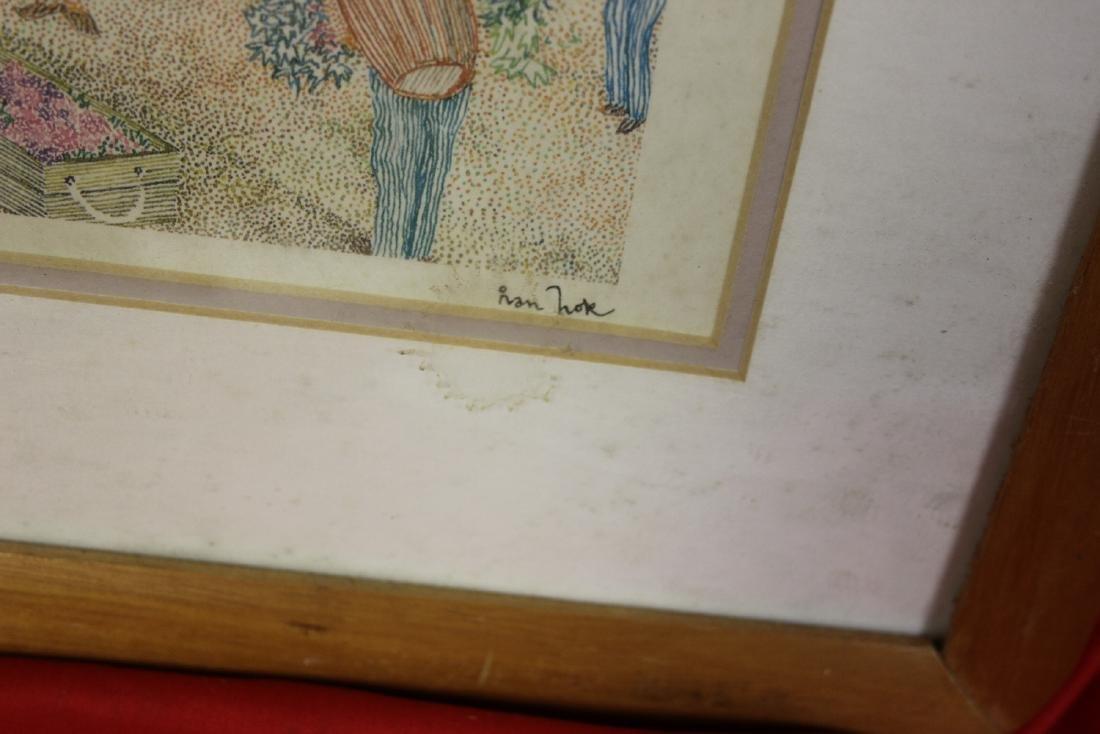 A Framed Lithograph - signed Ivan Nok - 3