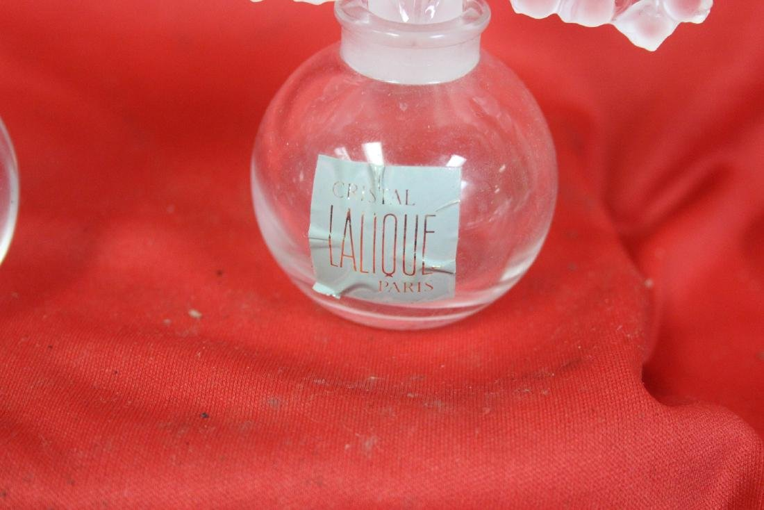 Lot of Two Signed Lalique Parfume Bottles - 6