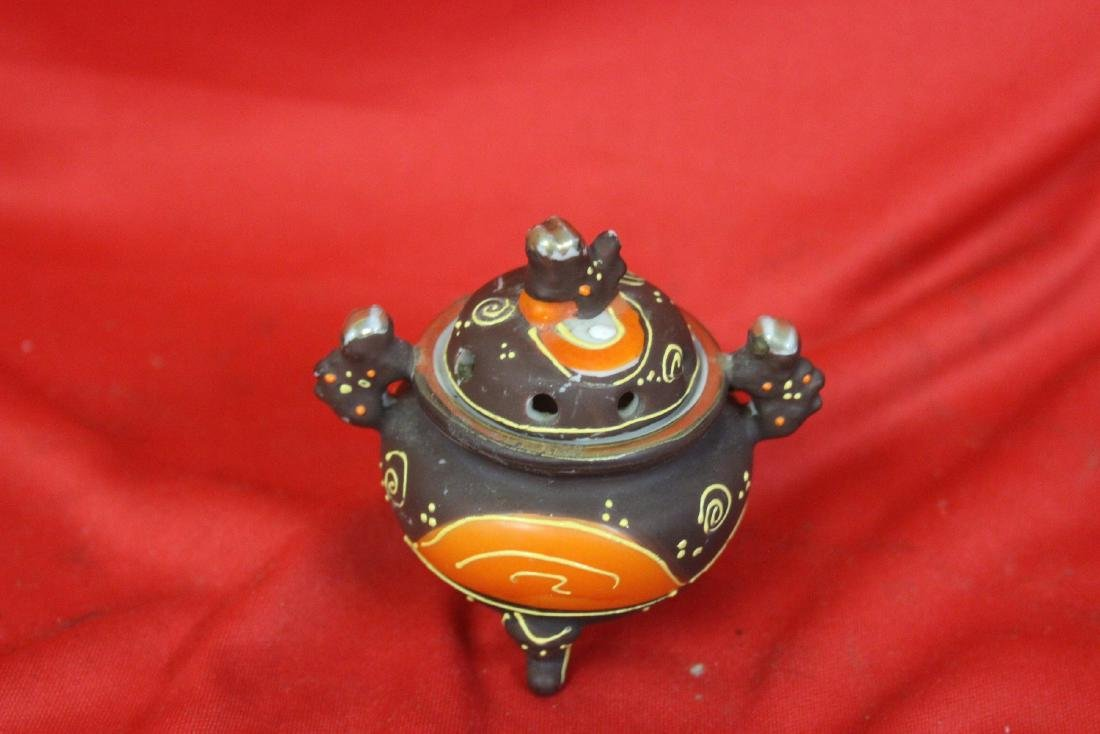 An Early Japanese Two Handle Miniature Censer