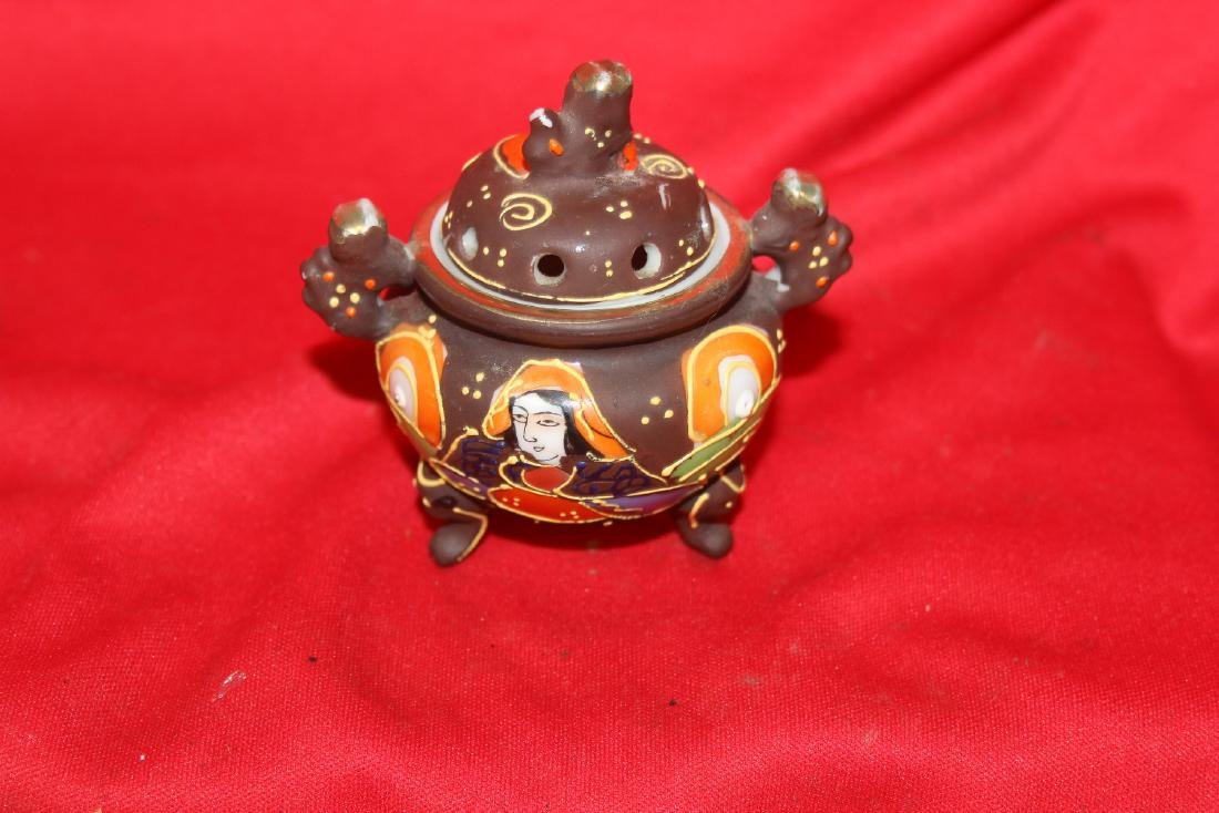 An Early Japanese Two Handle Miniature Censer - 3