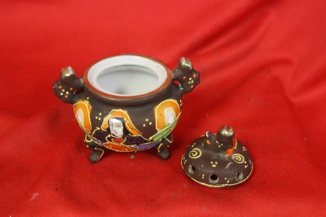 An Early Japanese Two Handle Miniature Censer - 4