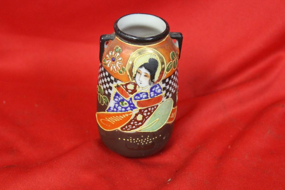 An Early Japanese Two Handle Miniature Vase