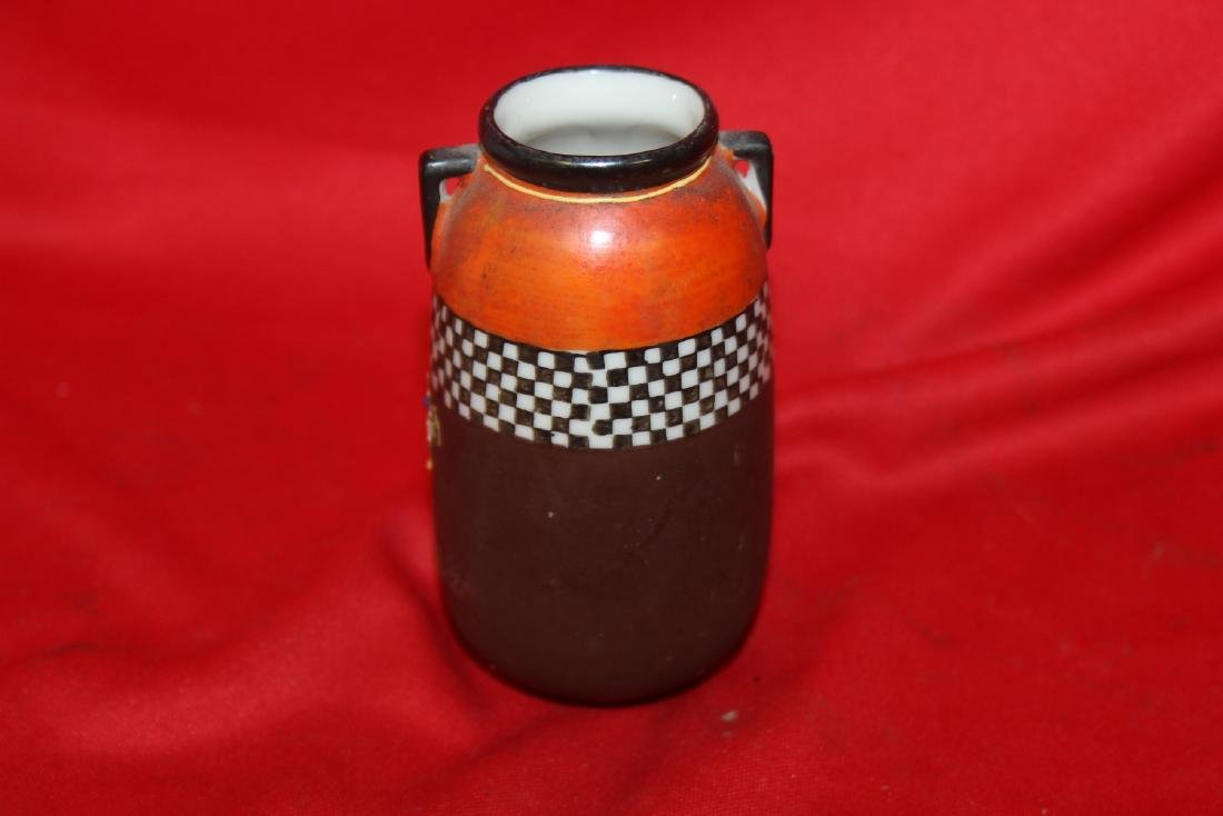 An Early Japanese Two Handle Miniature Vase - 3