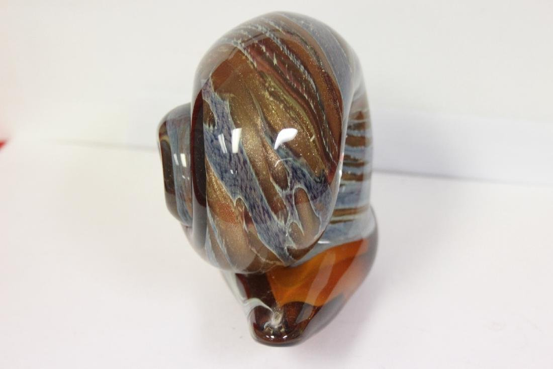 An Art Glass Snail - 4