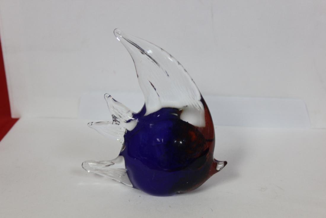 An Art Glass Angel Fish - 3