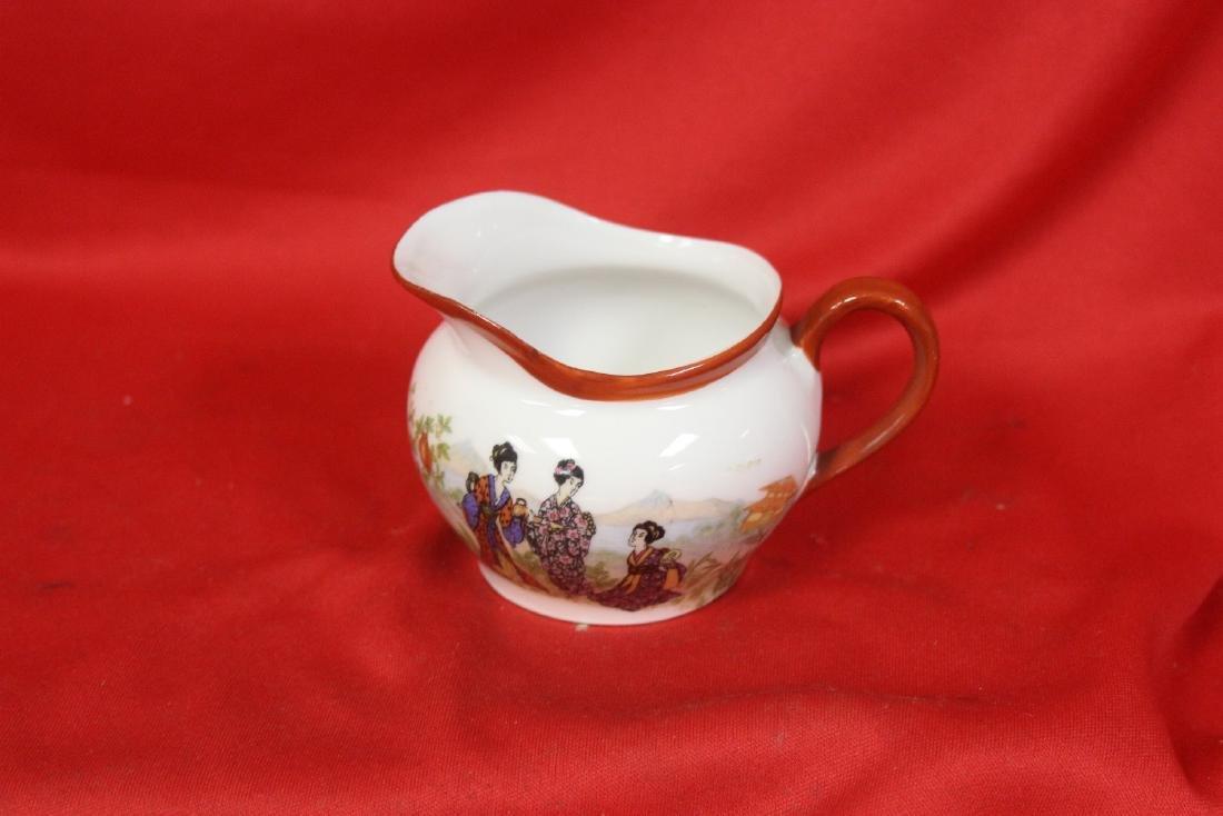 A Set of Signed Vintage Japanese Teaset - 10