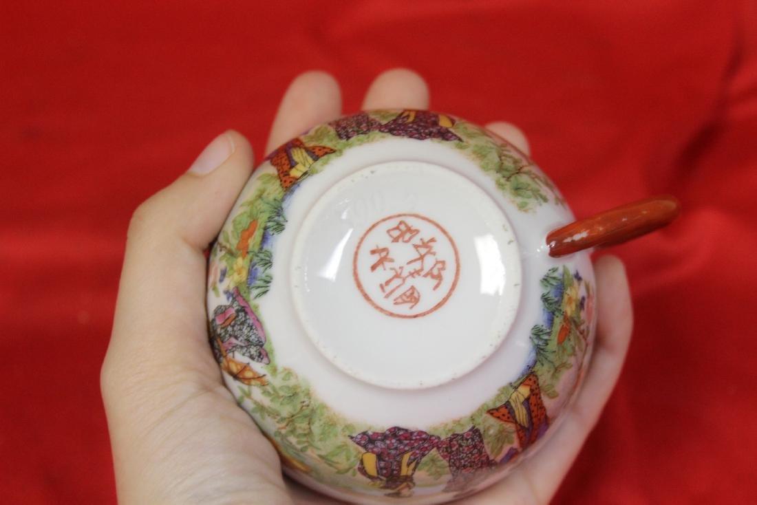A Set of Signed Vintage Japanese Teaset - 7
