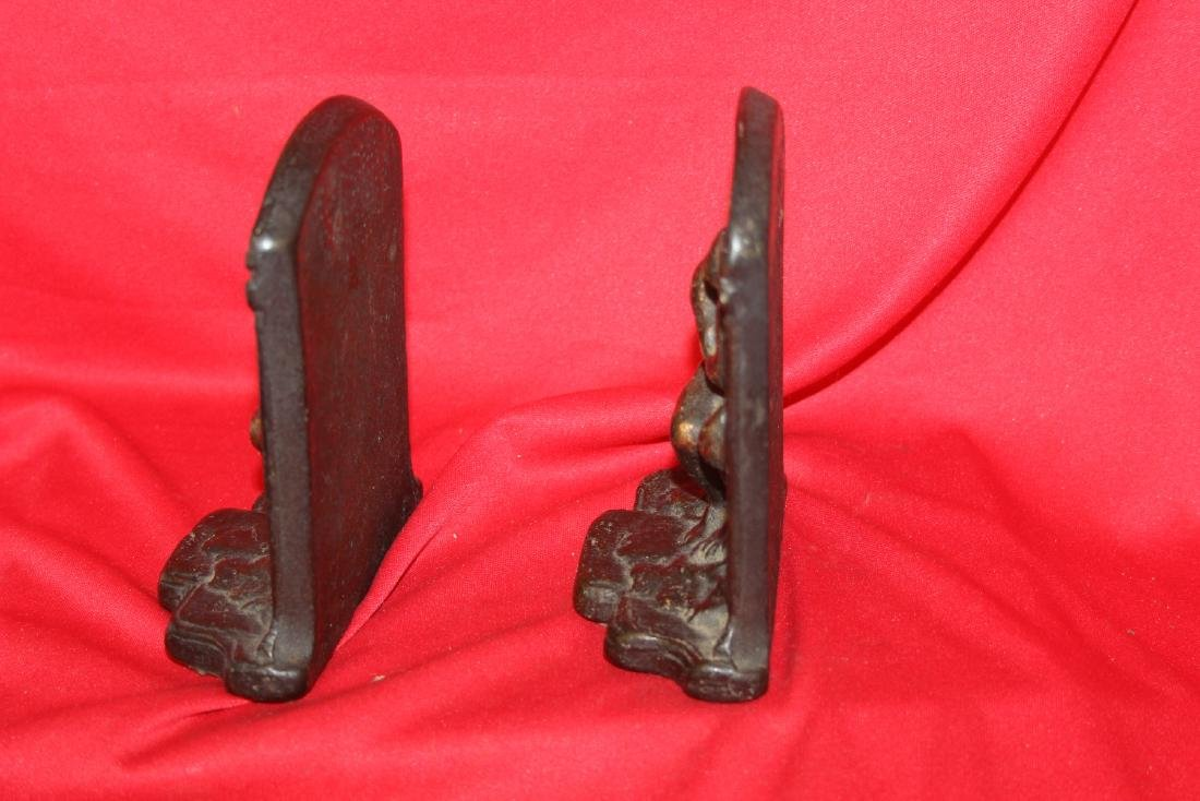 A Pair of Cast Iron Bookends - 4