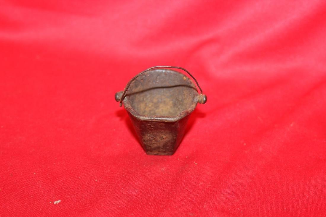 A Miniature Cast Iron Water Bucket - 2