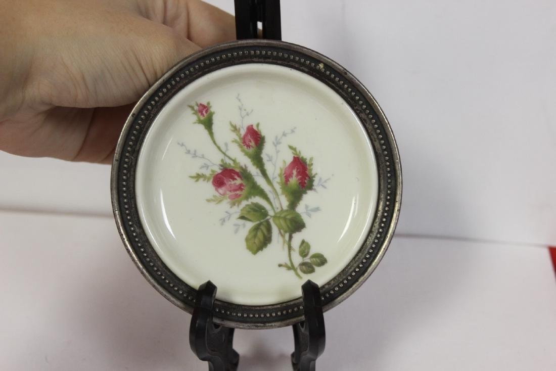 A Sterling Rim Rosenthal Small Plate