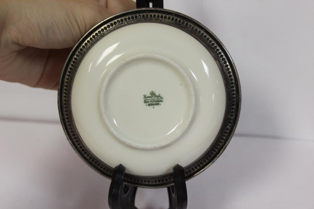 A Sterling Rim Rosenthal Small Plate - 2